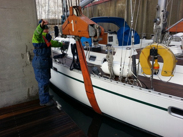 Brighton Belle has been lifted into the boat yard for winter maintenace